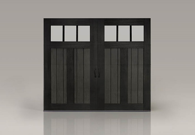 Clopay Canyon Ridge Limited Edition Series Garage Door with Factory Finish Slate and Black