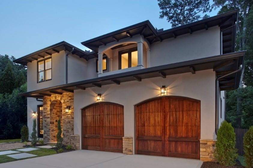 Clopay Reserve Garage Door with Stained Finish